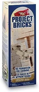 FloraCraft Foam 285 Piece Project Bricks 0.6 Inch x 0.6 Inch x 1.4 Inch Tan