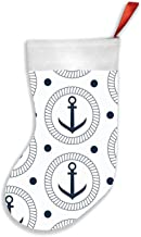 Anchor Rope Christmas Stockings 16.5 Inch Plush Decorations for Family Celebrate Seasonal Decor Tree Ornament Party Decor ...