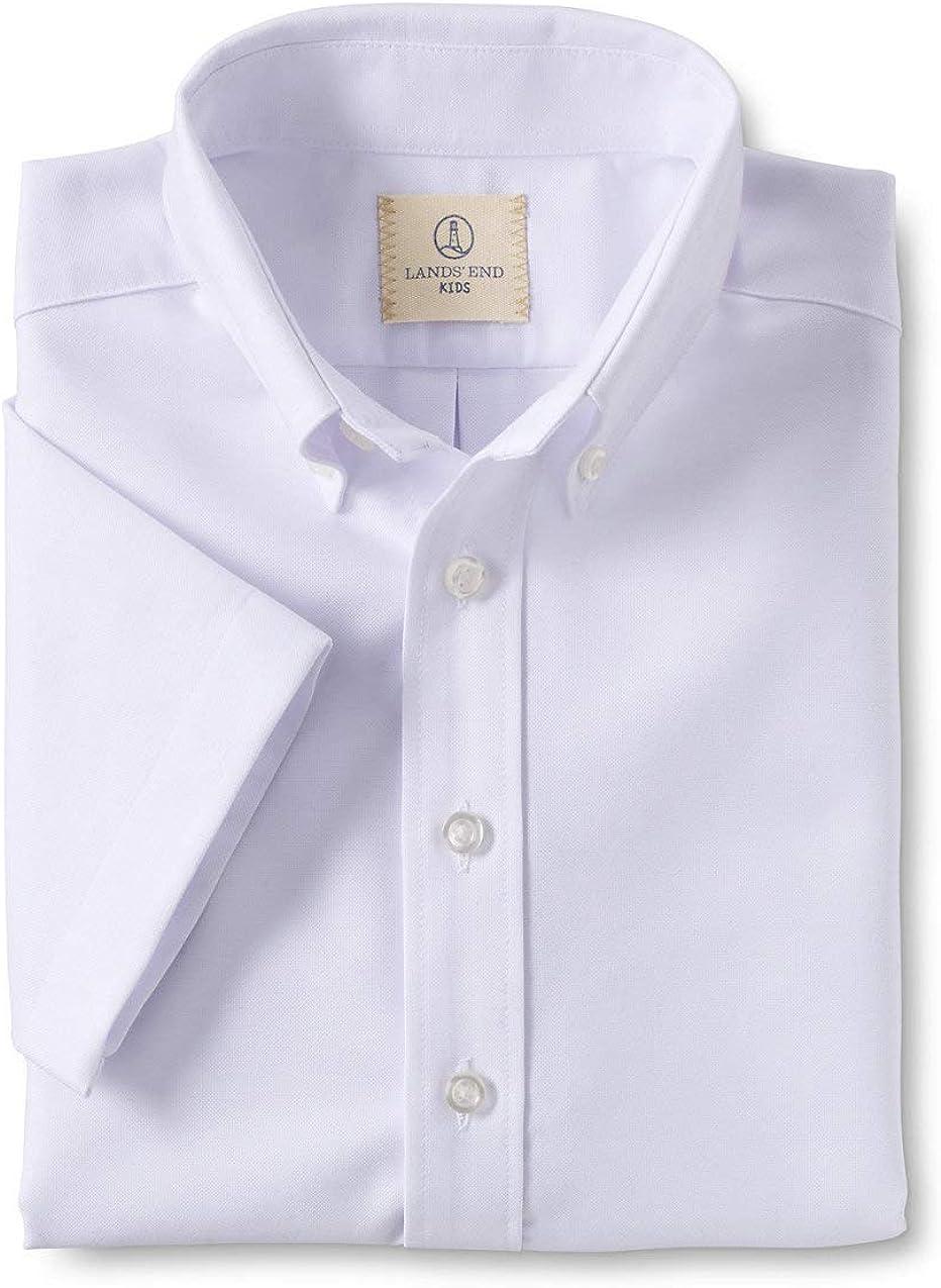 Lands' End Boys Short Sleeve Oxford Dress Shirt