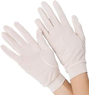 [スリーピングシープ] ひんやり サラサラ シルク100% UV 手袋 ハンドケア UV 手袋 手のお手入れに (M, 5指ライトピンク)