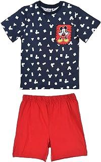 e235e358e5bdc Disney Pyjamas Enfant Mickey Souris T-Shirt et Short Coton Imprimé 0917