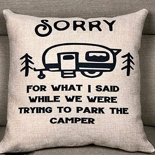FaceYee Sorry for What I Said Camper Pillowcases Camping Park Camper Travel Trailer Parking product image