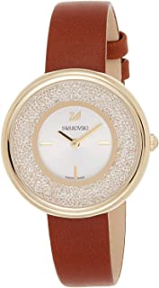 Swarovski Womens Quartz Watch, Analog Display and Leather Strap 5275040