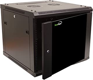 NavePoint 9U Wall Mount Network Server 19 Inch IT Cabinet Rack Enclosure Glass Door Lock