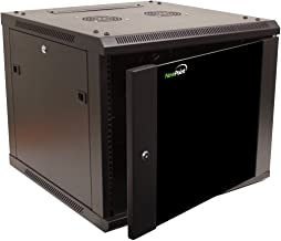 NavePoint 9U Wall Mount Network Server 19 Inch IT Cabinet Rack Enclosure Glass Door Lock