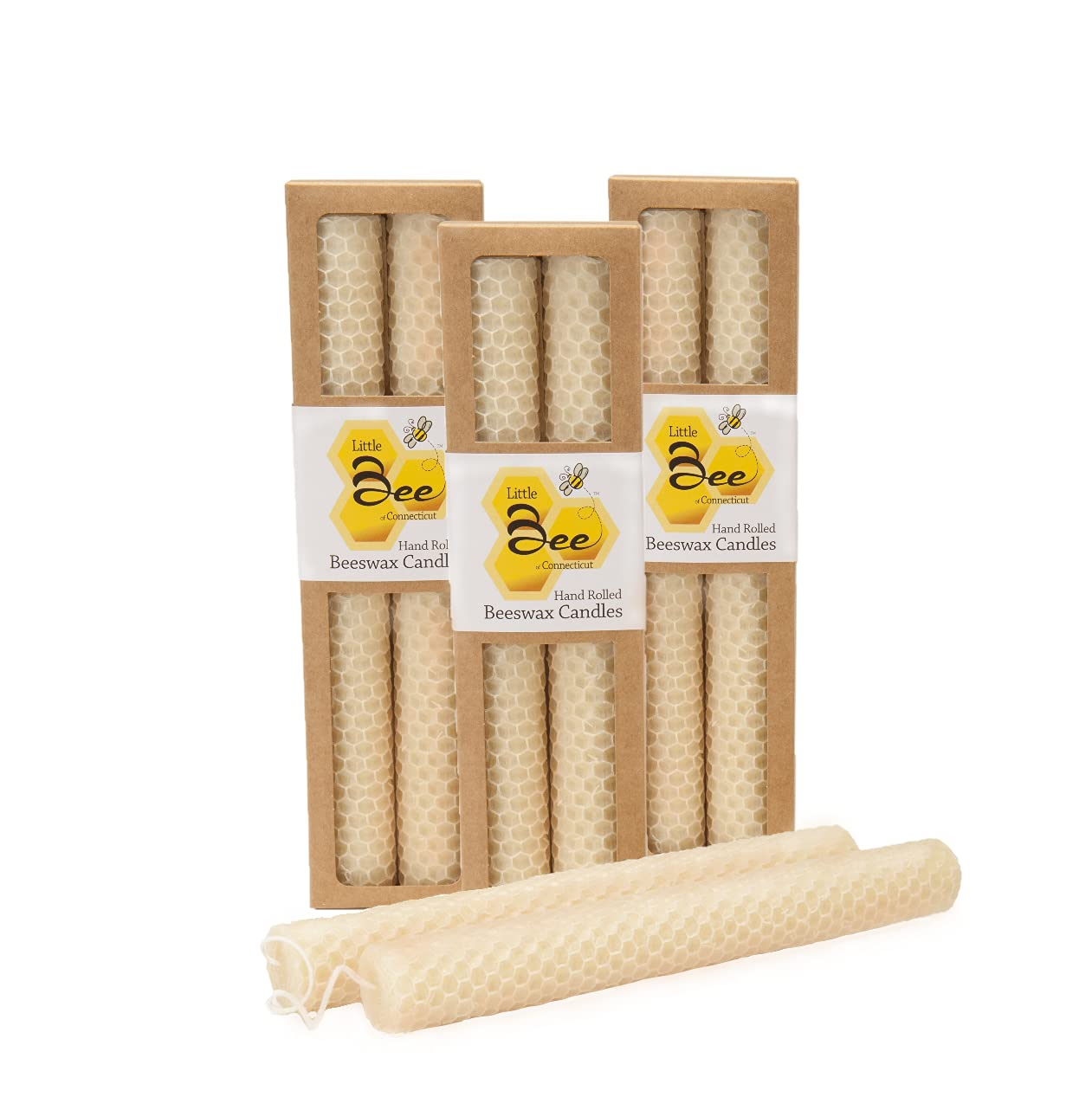 8 Inch Hand-Rolled Beeswax Taper Candles - of Bee Ranking TOP11 Little Connect Ranking TOP12