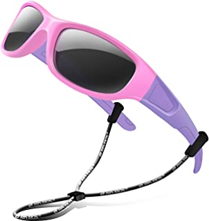 Rubber Kids Polarized Sunglasses With Strap Glasses...