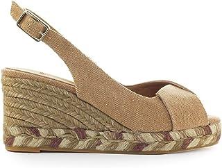 Castañer Womens Sandalo Con Zeppa Modello Brianda in Tela Marrone 36(EU)-6