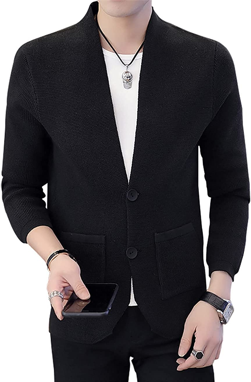 MCieloLuna Men's Comfy Sweater Fashion Button Front Long Sleeve Cardigan Sweater Outfits