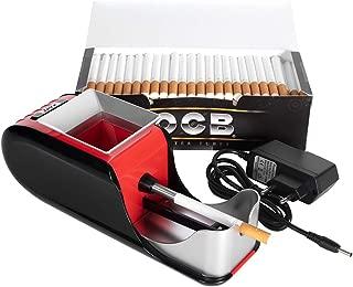 JeVx Maquina Liadora de Tabaco Electrica + 200 Tubos con Filtro OCB Entubadora para Cigarrillos Cigarros para Fumar