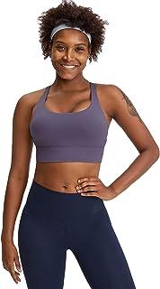 Sports Yoga Bras, Women Cross Back Shockproof Comfort Workout Yoga Bra for Running,Purple,12