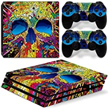 DAPANZ Skull Effect Vinyl Skin Sticker Decal Cover for Sony Playstation 4 Pro Console and DualShock 4 Controller Skin