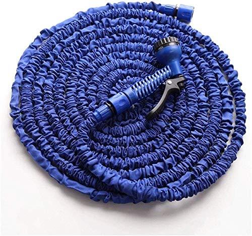 GJNVBDZSF - Manguera de agua de jardín extensible de 25 pies con boquilla de pistola de kit de manguera, protección de tela extra fuerte