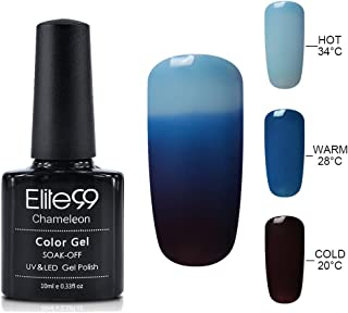 Elite99 Gel Nail Polish Color Changing Soak Off UV Gel Nail Lacquer Thermal Temperature Nail Art 4209