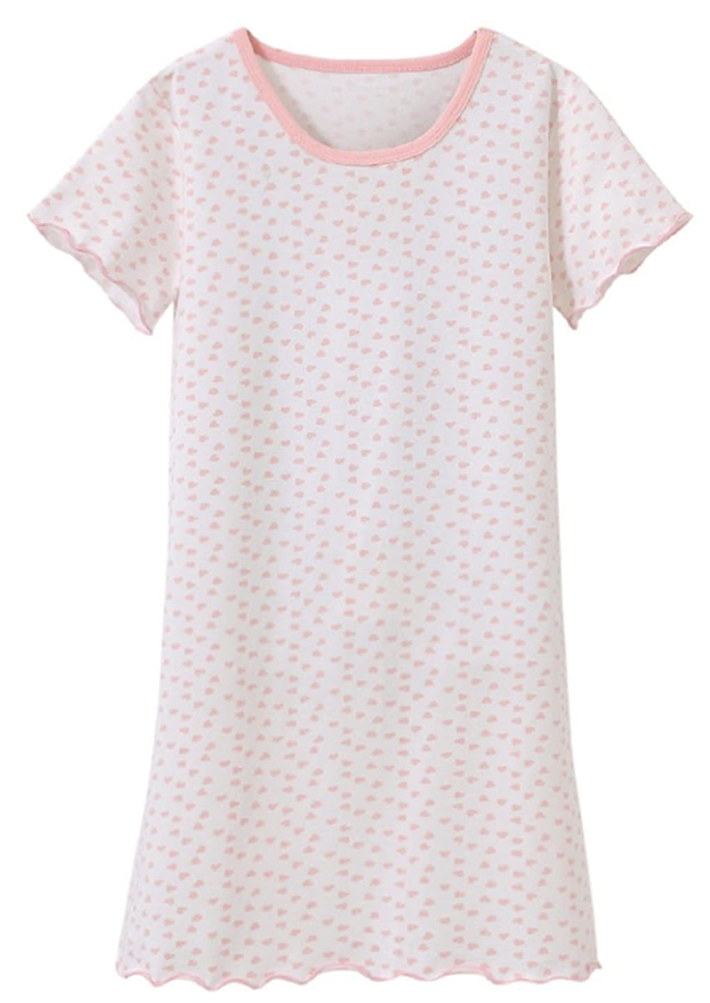 Ameyda Girls' Nightshirt with Heart Print