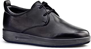 Cabani Kürklü Bağcıklı Günlük Erkek Ayakkabı Siyah Deri