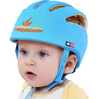 Baby Adjustable Anti-Fall Headgear Hard hat Shock Absorption Breathable Toddler hat Protective Harness hat to Provide a Safer Environment When Learning Crawling Games