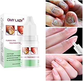 Nail Infection Treatment, Hamkaw Nail Repair Solution, Natural Nail Treatment, Nail Fungus Treatments, Effective Against Nail Infection Restores Discolored & Damaged Nails - 0.35 Oz
