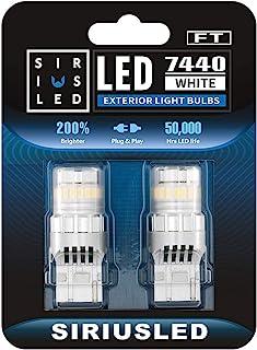 SIRIUSLED - FT- 7440 LED Backup Reverse Light Bulb Super Bright High Power Single Filament function Air Vent Design 3030+4...