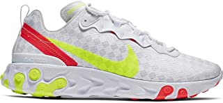 Nike React Element 55 (White/Volt-Flash Crimson 10.5)