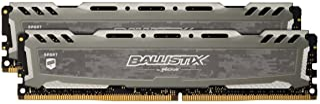 مجموعة ذاكرة ألعاب سطح المكتب كروشال باليستيكس الرياضية LT 3000 ميجا هرتز DDR4 DRAM 16 جيجابايت (8 جيجابايت × 2) CL16 BLS2K8G4D30BESBK (رمادي)