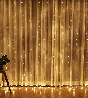 Royal Home Care300 LED Curtain String Light, 8 Lighting Modes,Fairy Twinkle String Lights for Wedding Party Home,Bedroom, ...