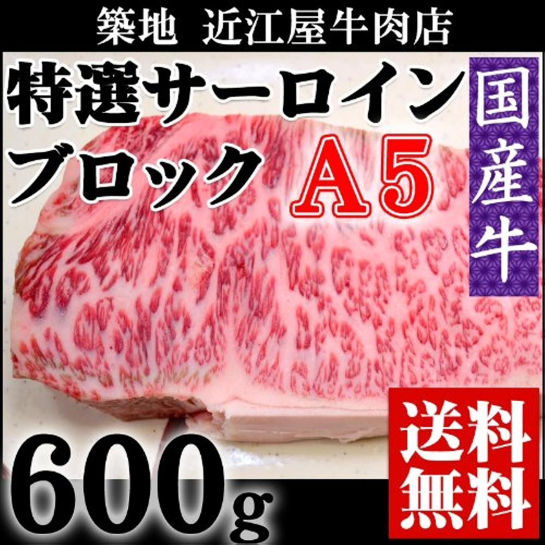 『近江屋牛肉店 国産牛 A5 サーロイン ブロック 600g』