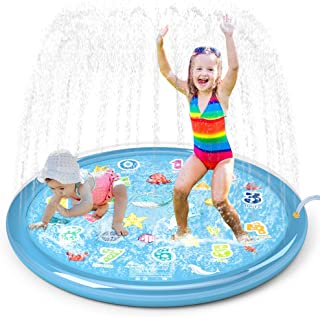 "Jasonwell Sprinkler for Kids Splash Pad Play Mat 60"" Baby Wading Pool for Toddlers.."
