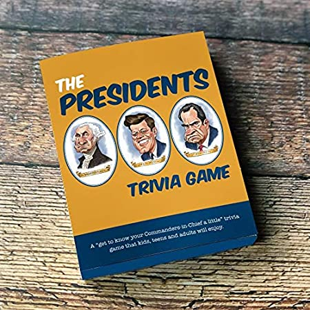 Papersalt The Presidents Trivia Cards