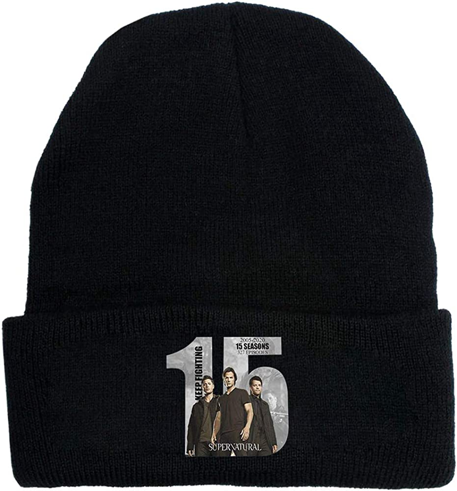 QUEBEAR 15 Years of Supernatural Knitted hat Winter Warm Cover hat for Men and Women
