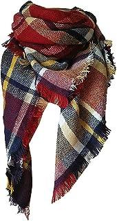 GGTFA Mujeres raya Tartan Otoño otoño Bufandas Invierno bufandas manta largo Chal oversized Wrap Bufanda