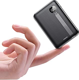 Portable Charger 10000mAh, AINOPE (Small) (LCD Power Display) Power Bank, High-Speed 2 USB Outputs External Battery Pack/Battery Charger/Phone Backup, Perfect for Travel