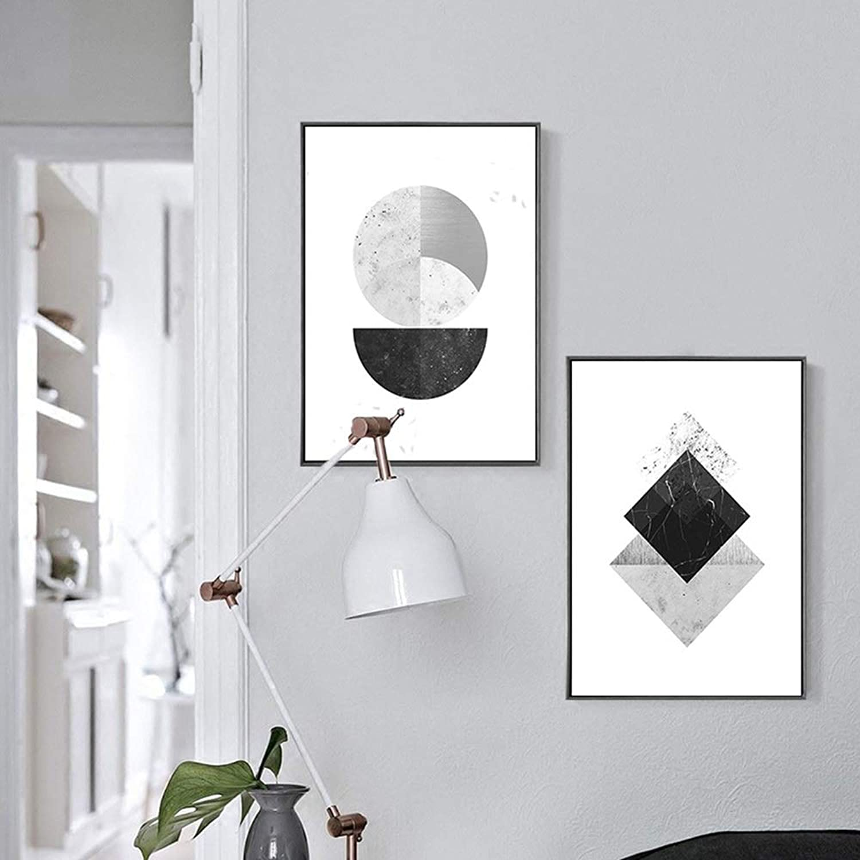marcas de diseñadores baratos Wsw HD micro-aerosol nórdico nórdico nórdico moderno pintura decorativa simple geométrica marco de imagen negro 2 unids   set de pintura de parojo mural dormitorio sala de eEstrella en casa sofá hotel 30  40 40  60 cm A  ahorra hasta un 80%
