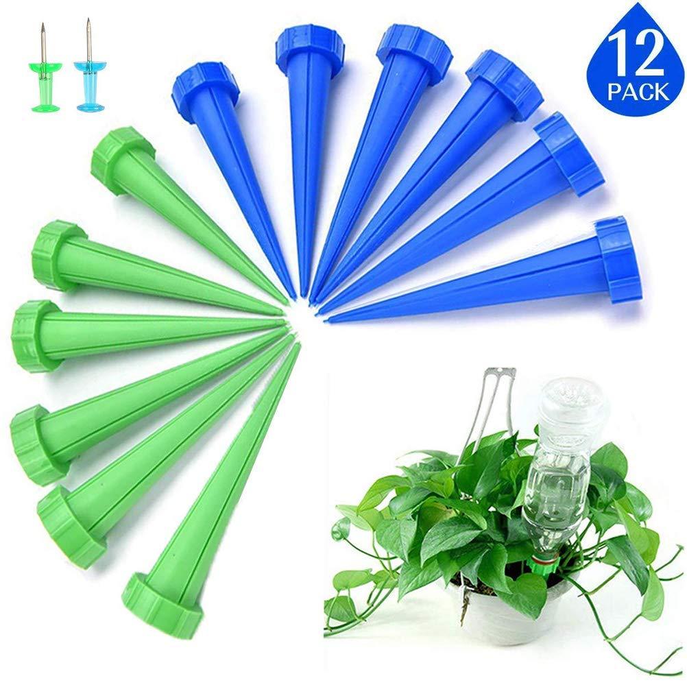 LATERN 12Pcs Spike automático de riego de Plantas, Sistema de riego por Goteo para el jardín, hogar, Interior, Exterior (Incluye 2 Clavijas): Amazon.es: Jardín