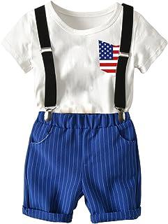 エルフ ベビー(Fairy Baby) 子供服 男の子 キーズ 半袖Tシャツ サスペンダー ハーフパンツ 3点セット