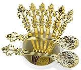 Mini Spoons Set of 8 by Movalyfe Kitchen - Coffee Espresso Demitasse Vintage Tea Spoon 4.5...