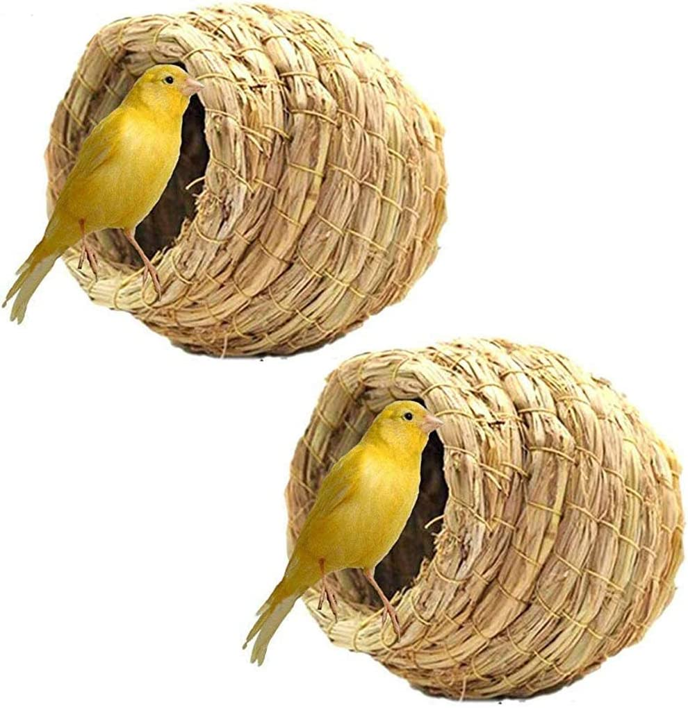 Birdcage Straw Simulation Birdhouse 100% Cozy Beauty products Re Natural - Tulsa Mall Fiber