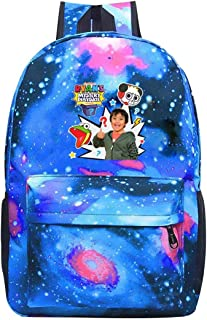 352 Ryan Toys-Review - Mochila Unisex para portátil (Impermeable, para Hombre y Mujer), Azul, One_Size
