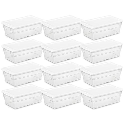 Sterilite 16428012  7 Liter Storage Box White Lid With Clear Base
