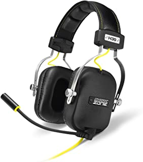 Sharkoon Shark Zone h30 - Auriculares Gaming con Cable, estéreo, micrófono, Negro/Amarillo.