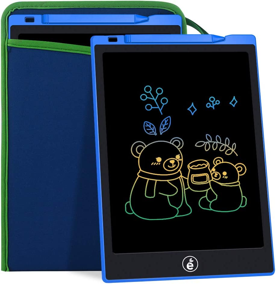 11-Inch LCD Writing Tablet, Electronic Colorful Screen Drawing Erase Board Doodle Board Writing Pad Gifts for Toddlers, Kids and Adults with Protective Sleeve (Blue)