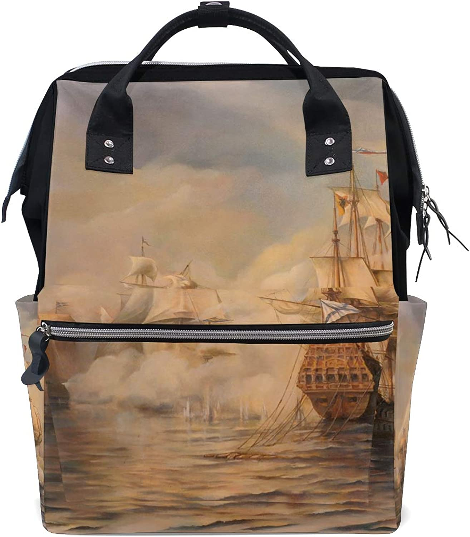 DEZIRO Canvas Sailing Vessel School Pack Backpacks Travel Bag