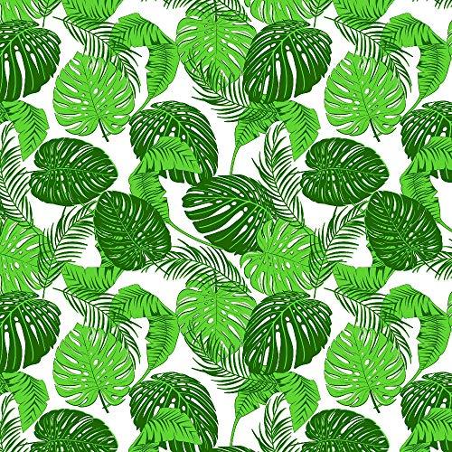 Erstklassiger Baumwollstoff 0,5lfm, 100prozent Baumwolle, modische Muster, Breite 160cm – Palmen Blätter