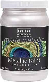 Modern Masters MM705 Matte Metallic Paint, Oyster, Quart