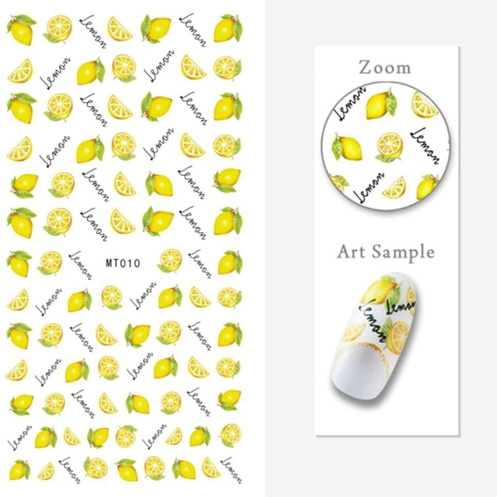 保護する縞模様の見る人1シート 夏 果物 花 パターン 3Dシール ネイルステッカー ネイルシール ネイルアート ネイルデコ (MY010)