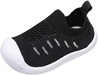 Unionm Unisex Baby Boys Girls Toddler Little Kids Soft Anti-Slip Sole Infant Candy Color Mesh Sport Running Casual Flying ...