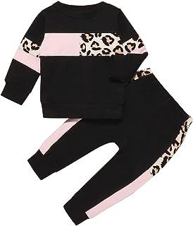 Sponsored Ad - Infant Baby Girl Clothes Cute Sweatshirt Set Rainbow Rose Printed Sweatsuit+Ruffle Sweatpants Fall Winter O...