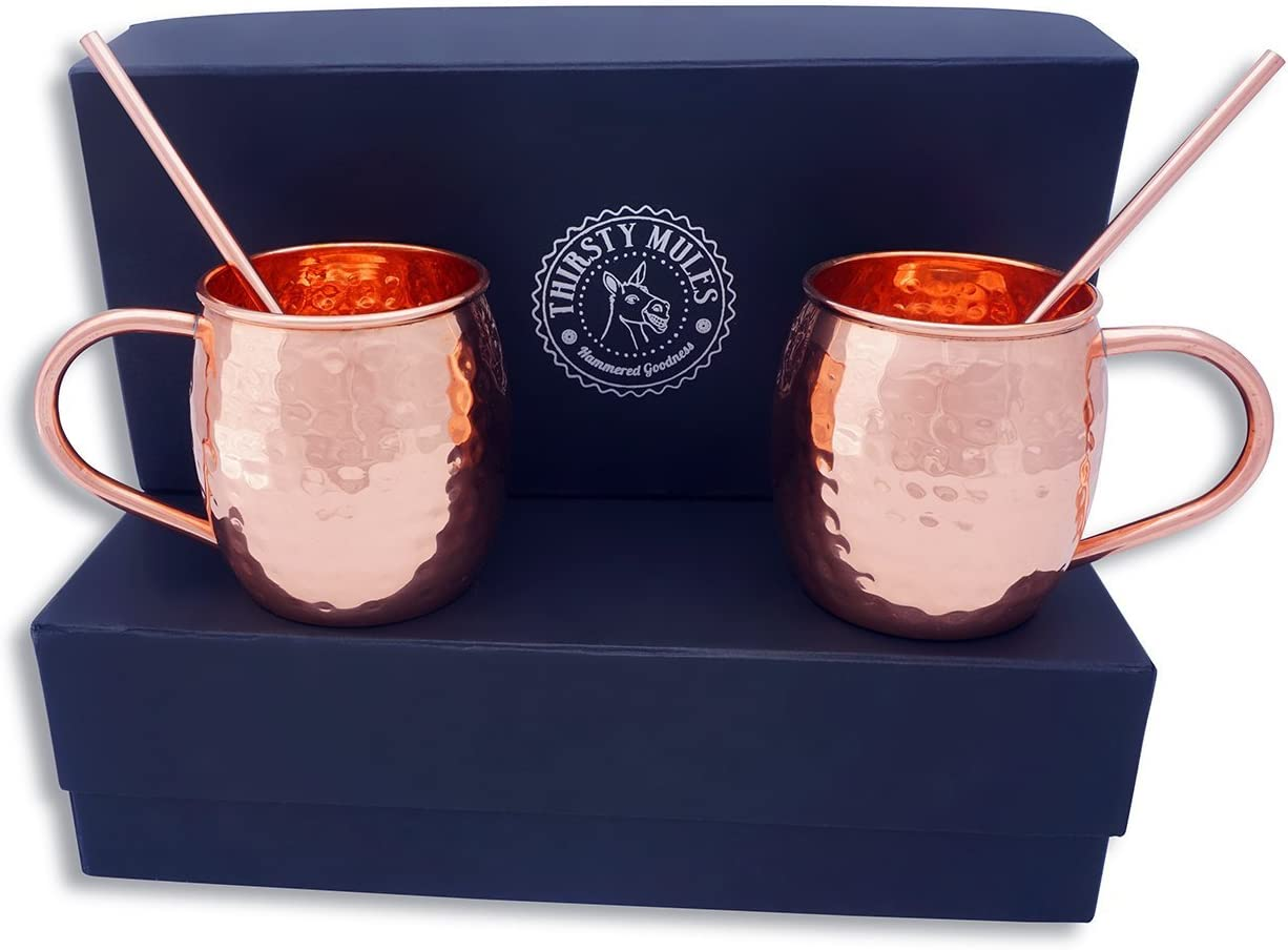 Thirsty Mules Moscow Columbus Mall Mule Hammered with Copper Mugs mart