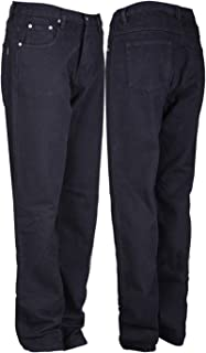 Mens Heavy Duty Jeans Hard Wearing Casual Denim Work Jeans Big Sizes Waist 30 to 64 and Inside Leg 31 Inches