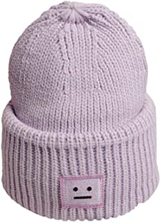 HULKAY Unisex Caps Sale Fashion Soft Stretch Stripe Knitted Autumn and Winter Trendy Warm Smiley Cotton Hat